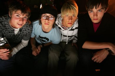 Mitch Hewer and the Skins Boys